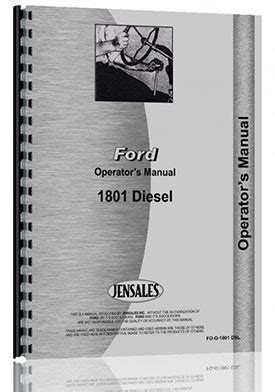 ford  industrial tractor operators manual