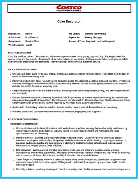 Wedding Cake Decorator Resume by Cake Decorator Resume Cover Letter 28 Images Cake