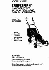 Craftsman 917377532 User Manual Rotary Mower Manuals And