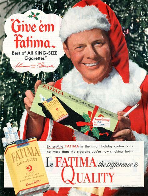 cigarettes  santa vintage tobacco christmas advertising