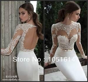 Aliexpresscom buy vestido de noiva 2016 sexy open back for Open back wedding dresses lace