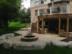 decorative walk out basement deck ideas walkout patio project craftsman patio other metro