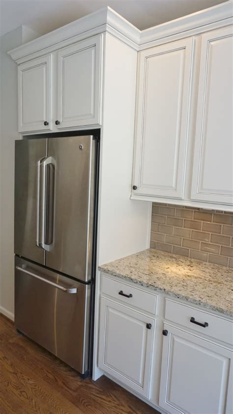 In Cabinet Refrigerator by Refrigerator Enclosure To Give Built In Look With Glazed
