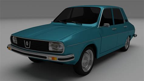 renault car models dacia 1300 renault 12 3d model obj blend dae mtl