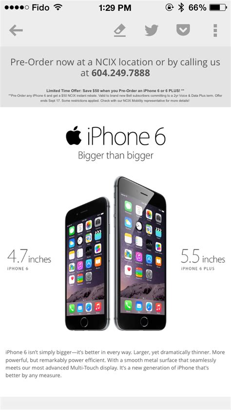 iphone 6 promo ncix iphone 6 promo save 50 new bell pre orders