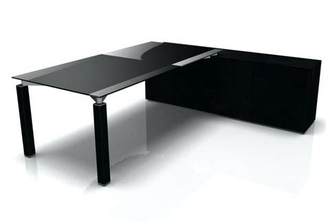 glass top desks black glass top desk amstudio52 within keyboard tray for