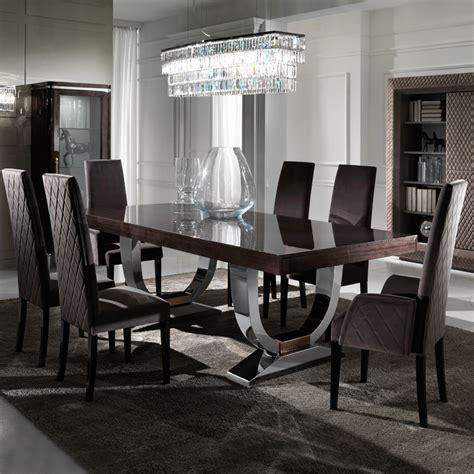 modern table l set large modern italian veneered extendable dining table set