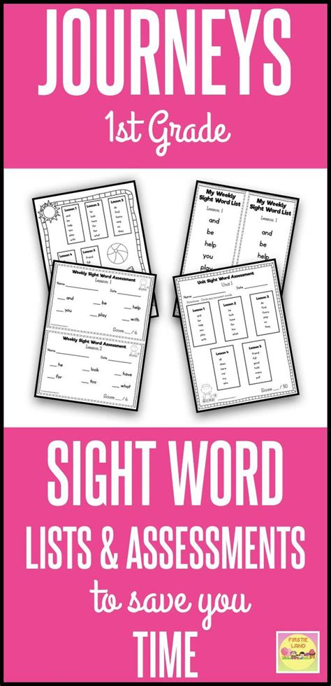 journeys st grade sight words  images  grade