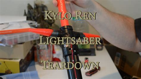 disney store kylo ren lightsaber review disassembly with oledreth malorn youtube