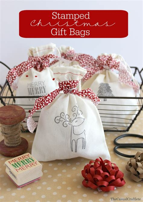 hand made gift bags for christmas diy sted gift bags best 12 days of the crafting