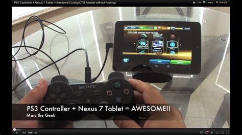 ps controller nexus  tablet awesome  otg adapter  rooting youtube