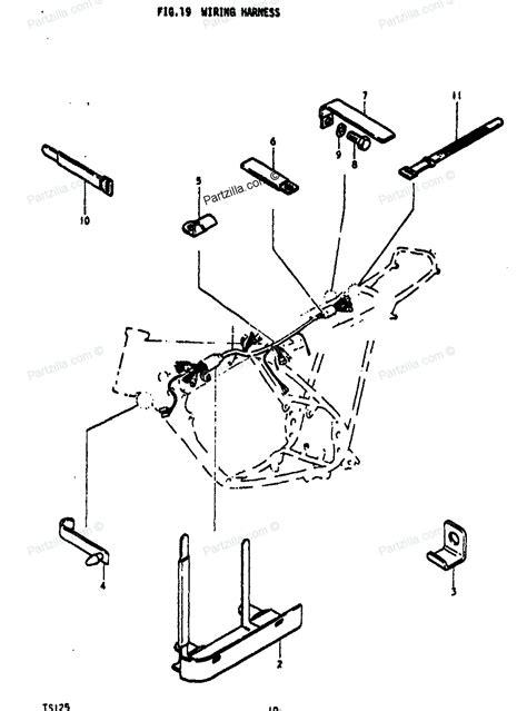 Suzuki Motorcycle Parts Wiring Harness Diagram