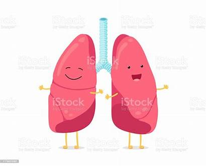 Cartoon Lungs Lung Respiratorio Respiratory Human System
