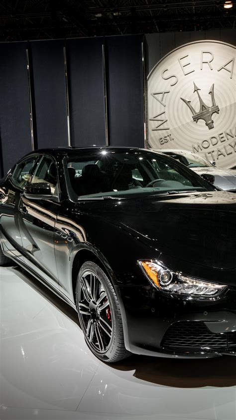 wallpaper maserati ghibli nerissimo sport car black