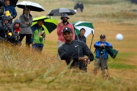British Open 2018: Tiger Woods hit a shot directly at the ...