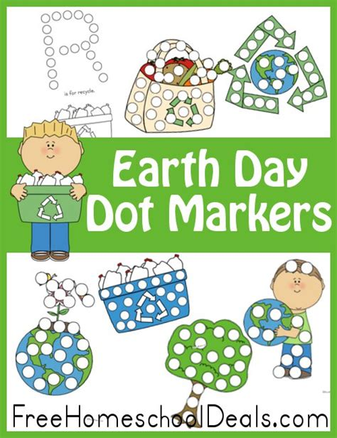 earth day dot marker set  pages  homeschool