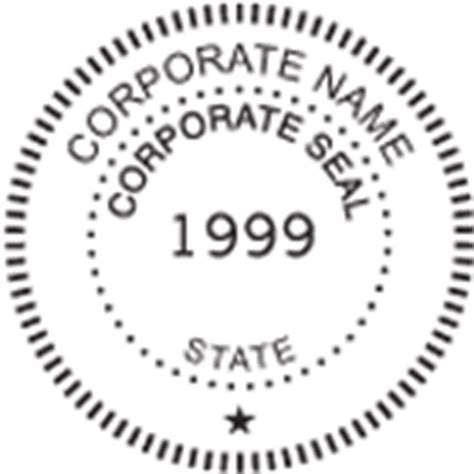 corporate seal template corporate seal order page