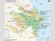 Azerbaijan Map Map of Azerbaijan