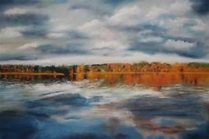 Bilder Bäume Gemalt : an einem see in schweden pastellkreide gemalt foto bild landschaft natur bilder auf ~ Orissabook.com Haus und Dekorationen
