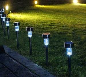 New pcs set outdoor garden led path