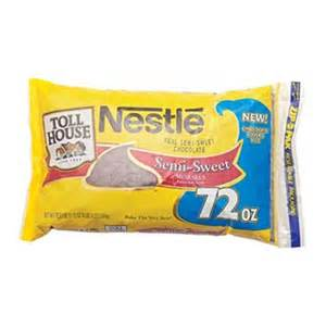 Nestle Toll House Semi Sweet Chocolate Morsels 72 oz 1 Ct ...