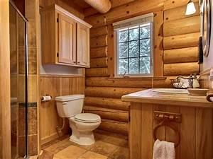 wapitik au chalet en bois rond With salle de bain en bois