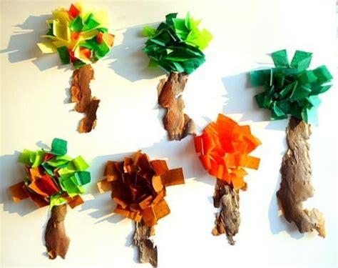 bastelideenbasteln papier herbst baum rinde wind kindergarten basteln herbst basteln und