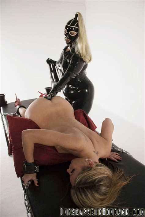 Blonde Mistress In Latex Clothing Forces A Slave To Orgasm