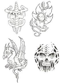 Tattoo Flash Outline Designs
