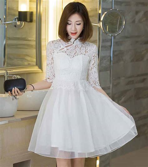 dress pesta brokat putih cantik  myrosefashioncom