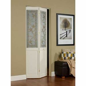 awc giverny decorative glass 24quot x 805quot bifold door With 90 inch closet doors