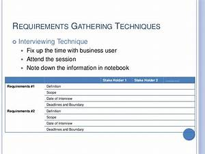 famous business requirements gathering template With report requirements gathering template