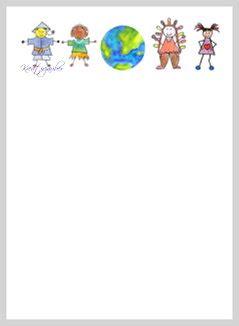 briefpapier kinder der welt kreativzauber