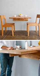 wall mounted dining table great for small spaces With great ideas on kitchen tables for small spaces