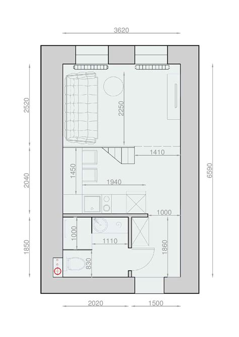 plan appartement 2 chambres plan appartement 30m2 studio