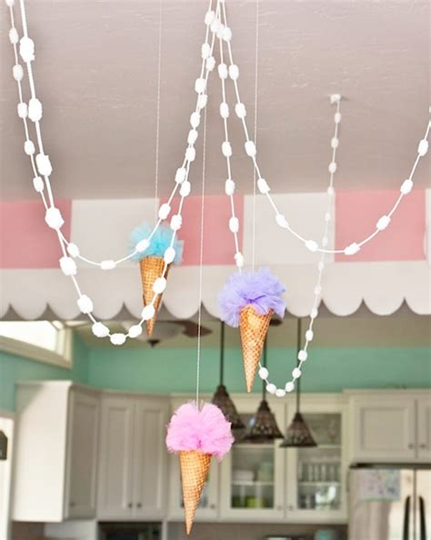 pastel ice cream parlor party birthday party ideas themes