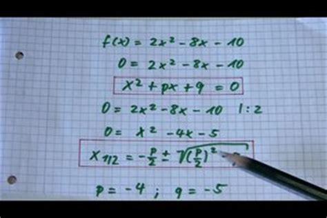 video nullstellen berechnen schriftlich oder  mit