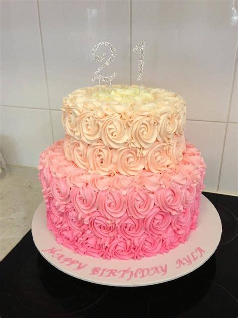 Double Layer Cake Decorating Ideas Two Tier Birthday Cake