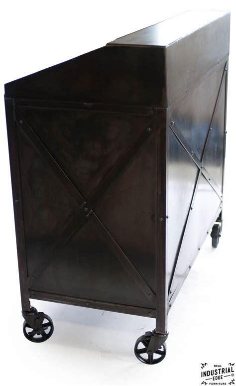 industrial custom hostess stand rolling  door real