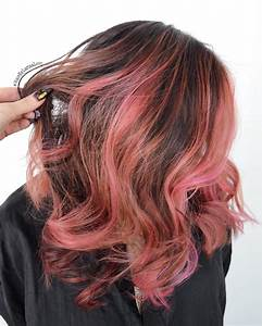Pink Highlights In Brown Hair | www.imgkid.com - The Image ...
