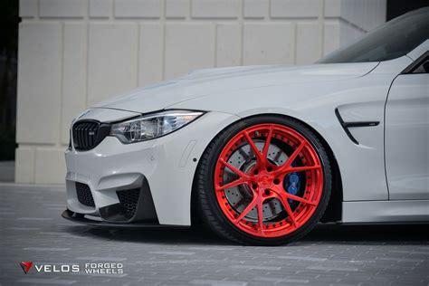 alpine white bmw    velos   pc forged wheels