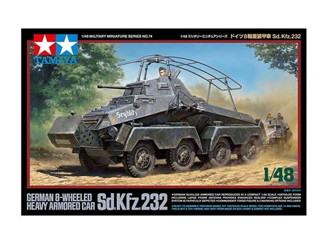 tamiya german 8 wheeled sd kfz 232 heavy armoured car kit