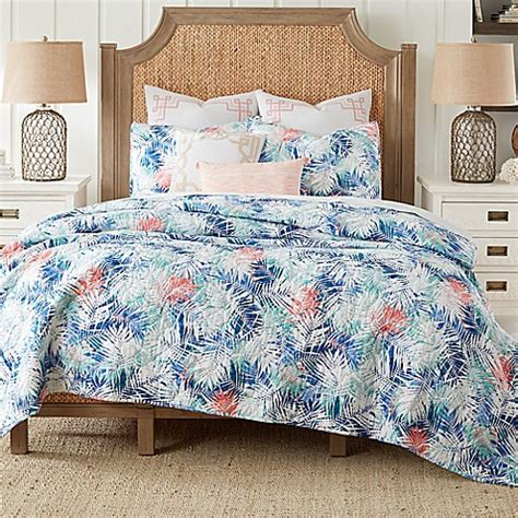 bed bath and beyond bedspreads and quilts coastal living 174 coastal palm reversible mini quilt set