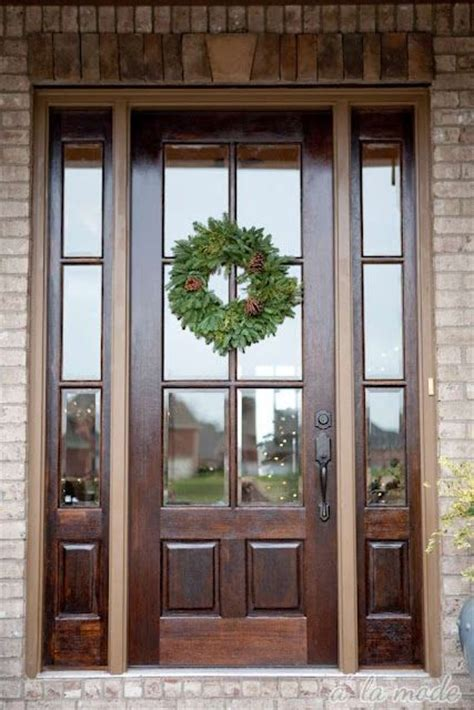 wood front doors with glass 27 chic front doors to try for your entry shelterness