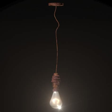 Hanging From Ceiling by Realistic Hanging Ceiling Light 3d Model
