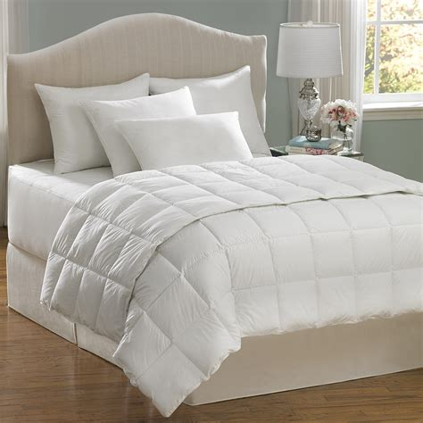 aller ease hot water wash white king comforter set