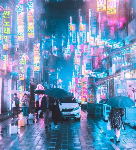 Cyberpunk, Neon And Futuristic Street Photos Of Seoul By ...