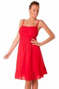 robe d39ete mi longue rouge a fine bretelles vetement et With robe d été noire à bretelles