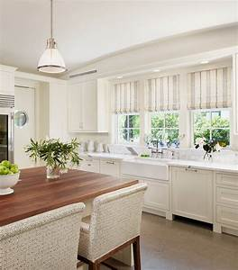 striped roman shades traditional kitchen dillon kyle With best brand of paint for kitchen cabinets with black and white striped wall art