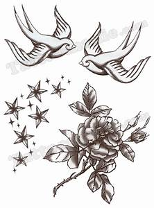 Dessin D Hirondelle Pour Tatouage : maxalae shirt rockabilly hirondelle tattoo fille ~ Melissatoandfro.com Idées de Décoration
